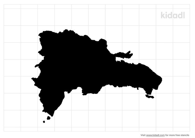dominican-republic-island-stencil