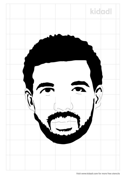 drake-face-stencil