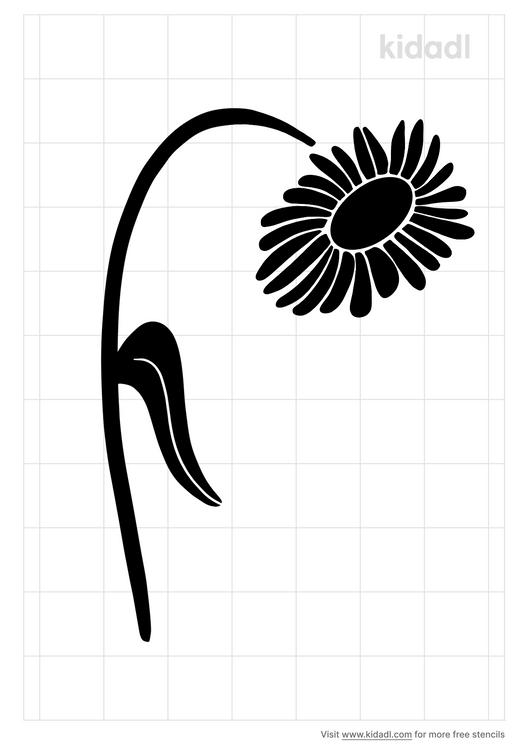 droopy-daisy-stencil