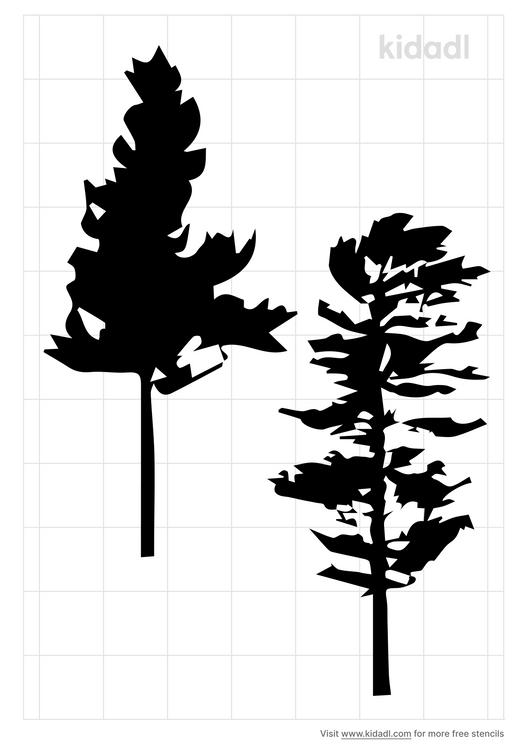eastern-white-pine-leaf-stencil