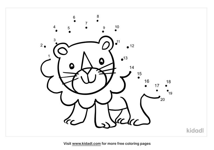 easy-lion-dot-to-dot