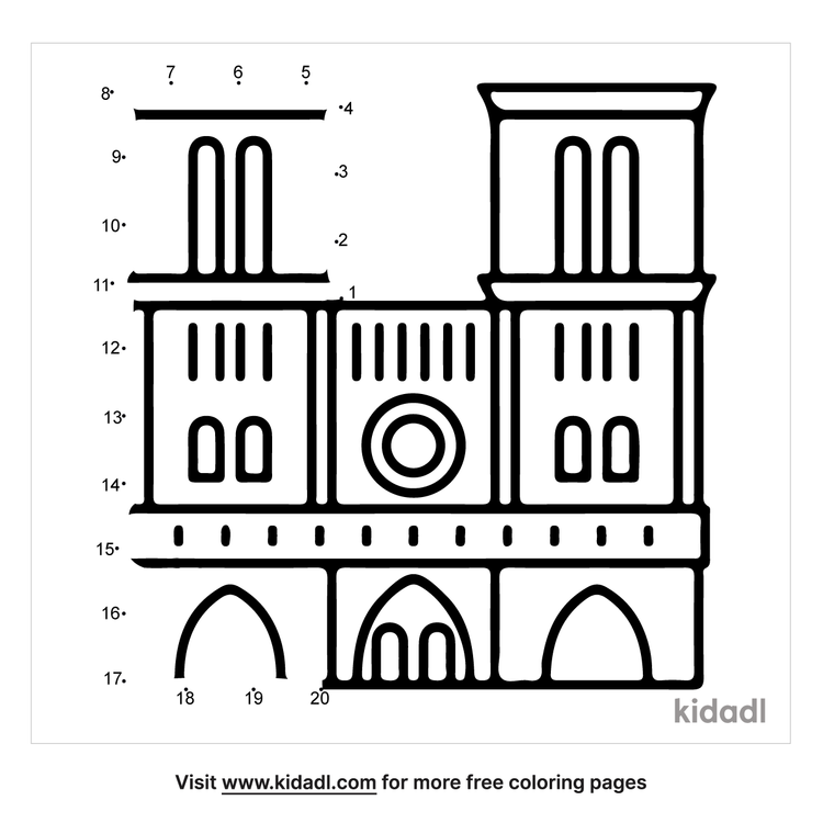 easy-notre-dame-cathedral-dot-to-dot