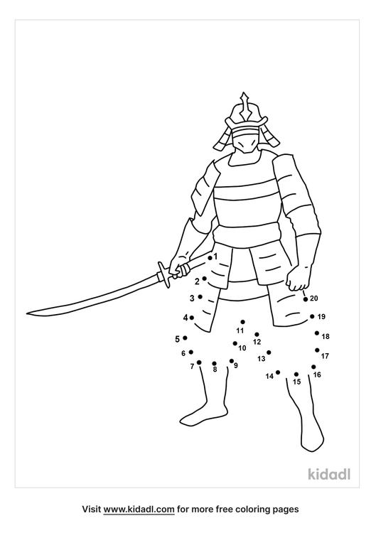 easy-samurai-dot-to-dot