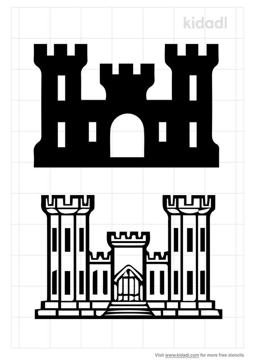 engineer-castle-stencil