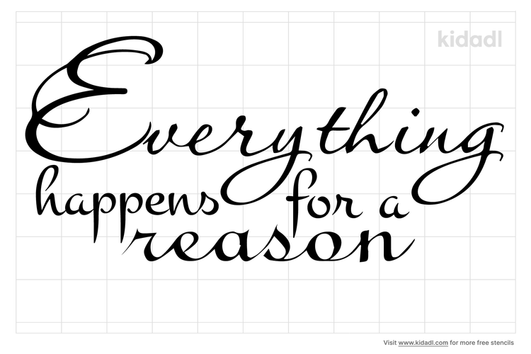 everything-happens-for-a-reason-stencil