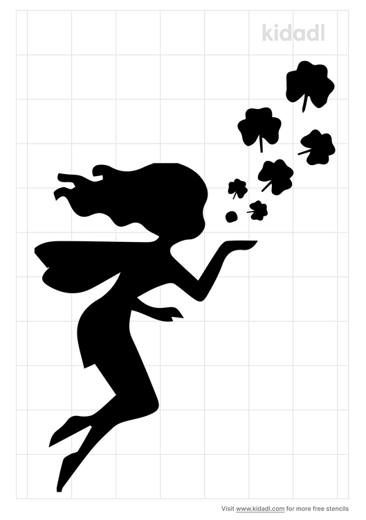 fairy-blowing-shamrocks-stencil