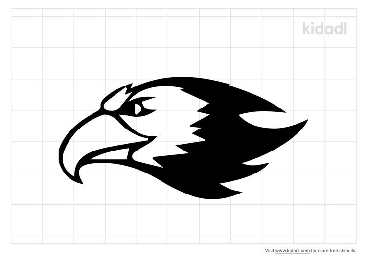 falcon-head-stencil