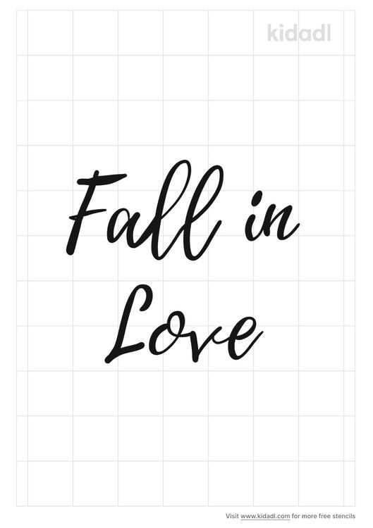 fall-in-love-stencil