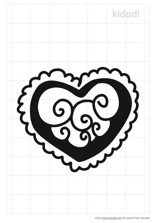 fancy-heart-stencil