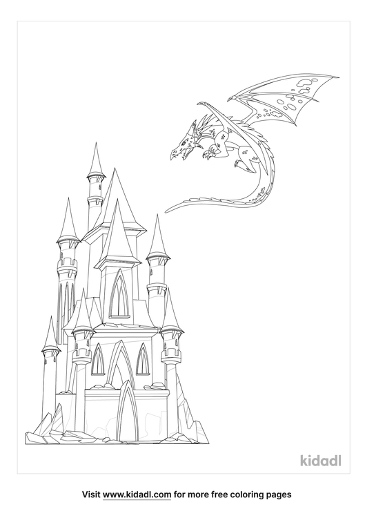 Fantasy City Coloring Pages Free Fairytales & Stories Coloring Pages  Kidadl