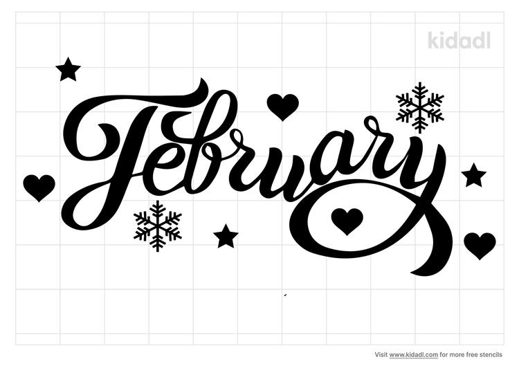 february-stencil