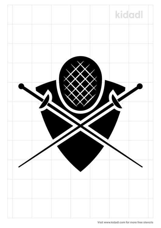 fencing-mask-stencil