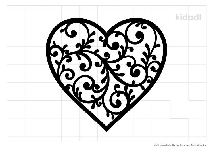 filagree-heart-stencil