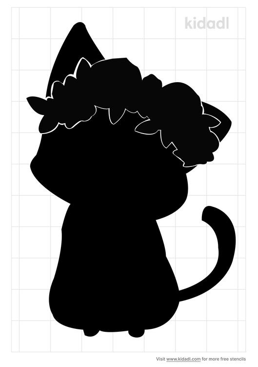 flower-cat-stencil