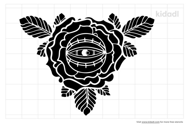flower-eye-stencil