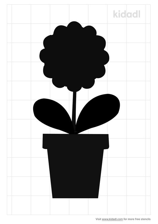 flower-in-pot-stencil