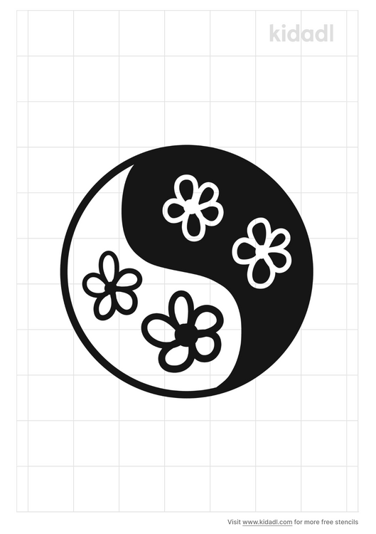 flowers-of-ying-yang-stencil