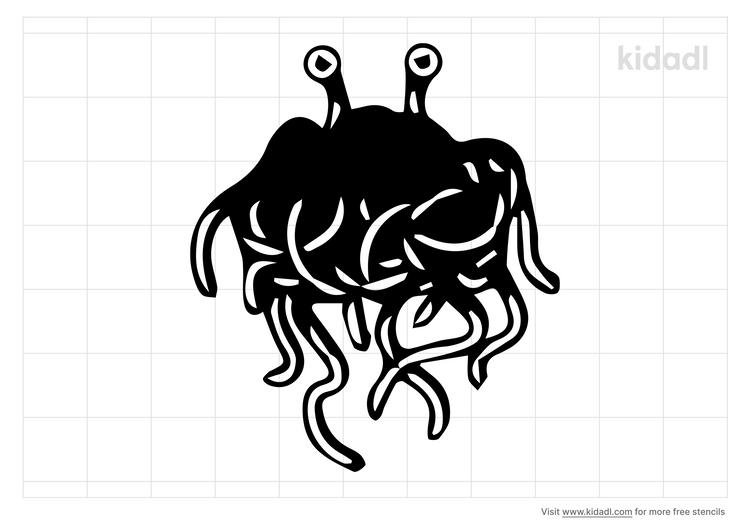 flying-spaghetti-monster-stencil
