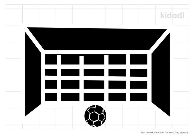 football-goal-stencil