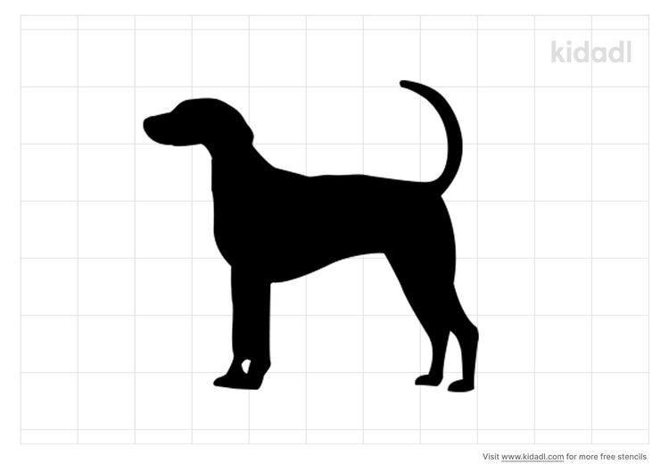 fox-hound-stencil