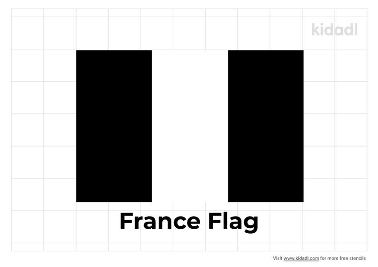 france-flag-stencil
