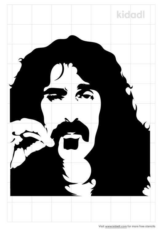 frank-zappa-black-stencil