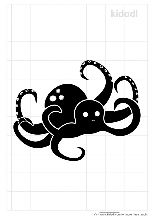 free-kraken-stencil-png