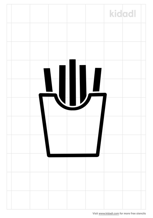 french-fries-stencil