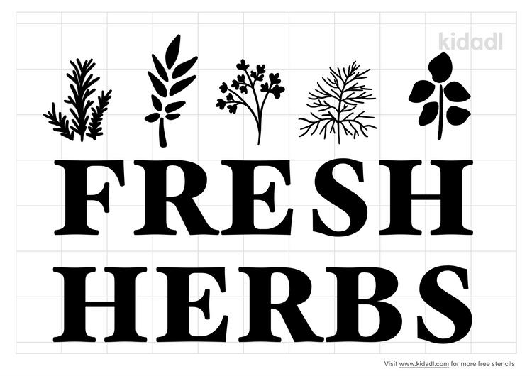 fresh-herbs-stencil