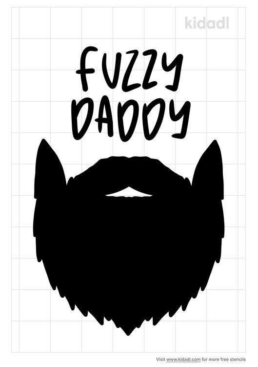 fuzzy-daddy-stencil