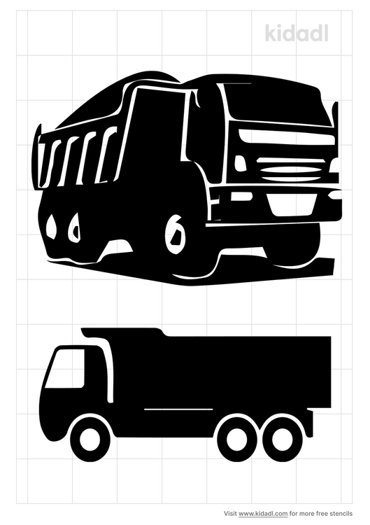 garbage-truck-stencil