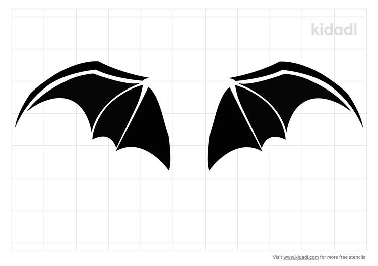 gargoyle-wings-stencil