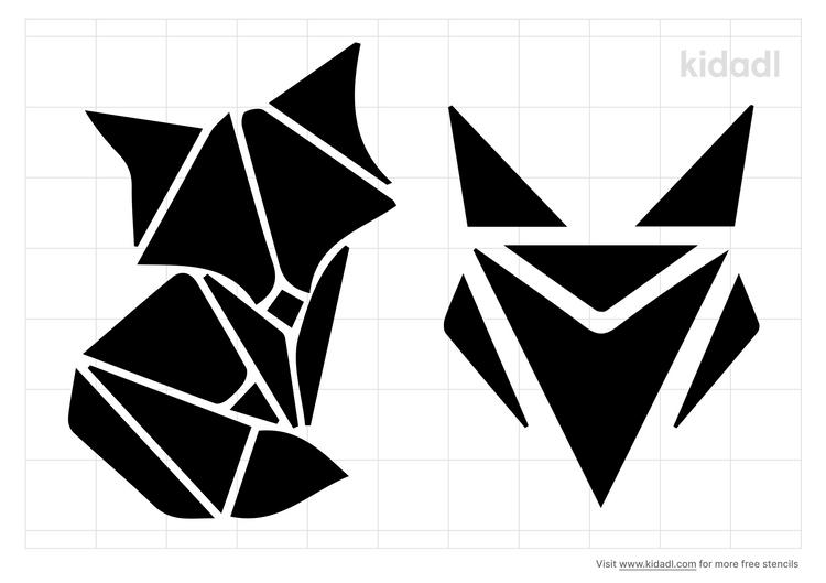 geometric-fox-stencil