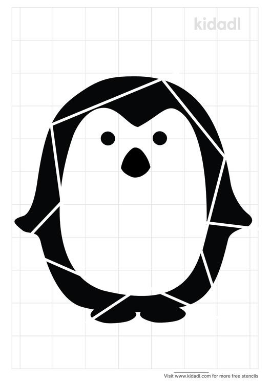 geometric-penguin-stencil