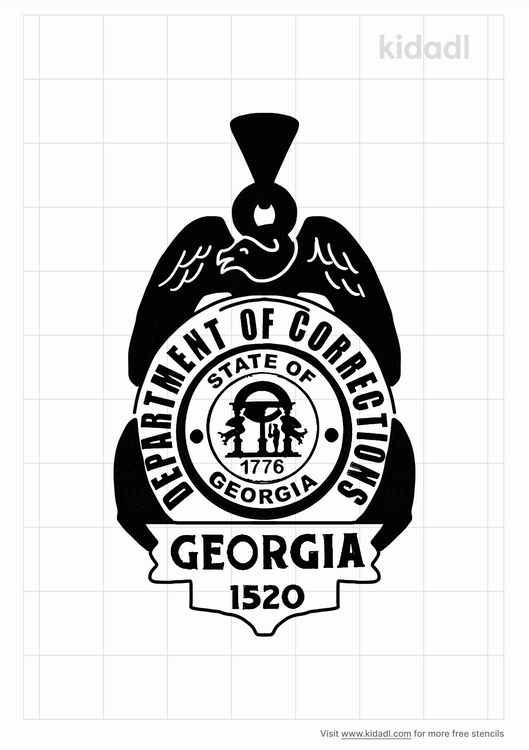 georgia-department-of-corrections-badge-stencil