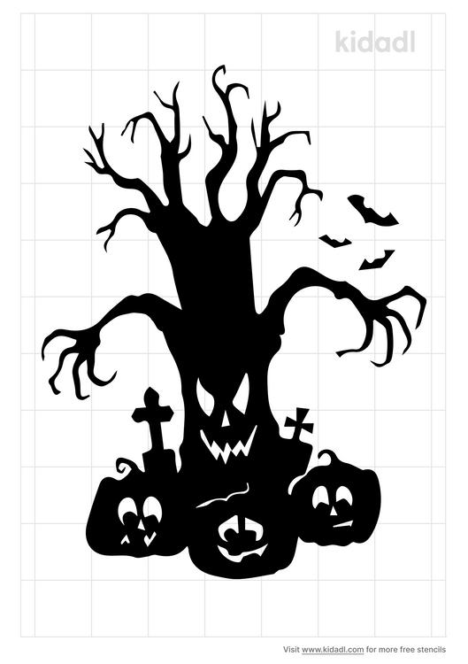 ghost-tree-stencil