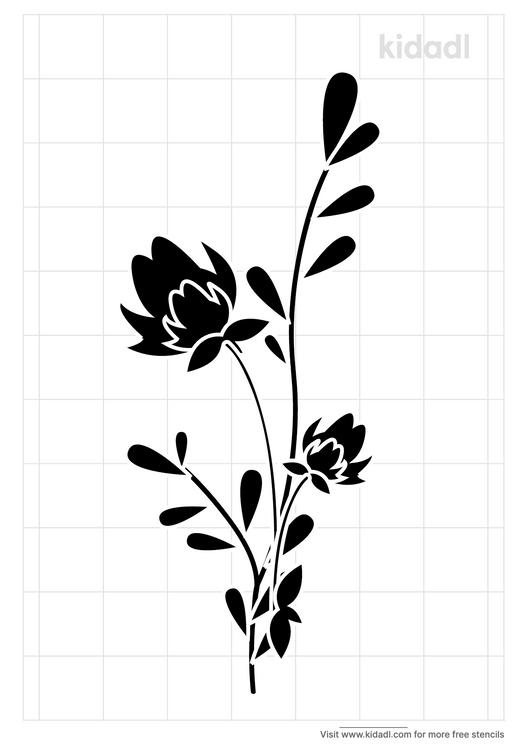 gladiola-stencil