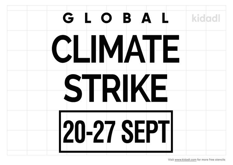 global-climate-strike-stencil