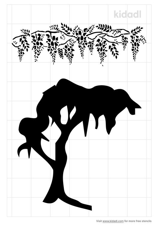 gnarly-wisteria-tree-stencil