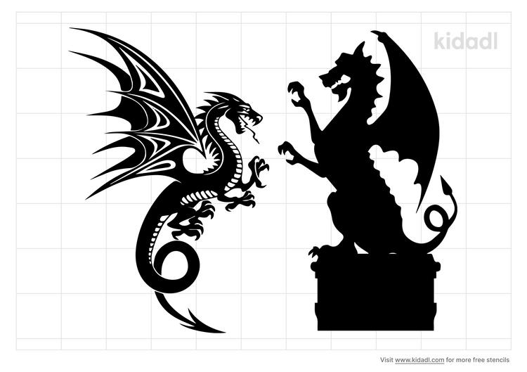 gothic-dragon-stencil