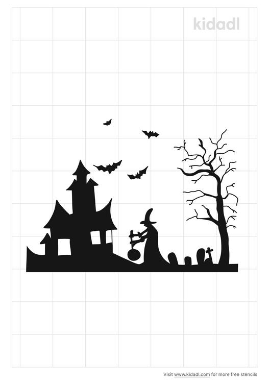halloween-scenery-stencil