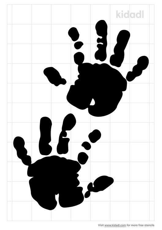 hand-print-stencil