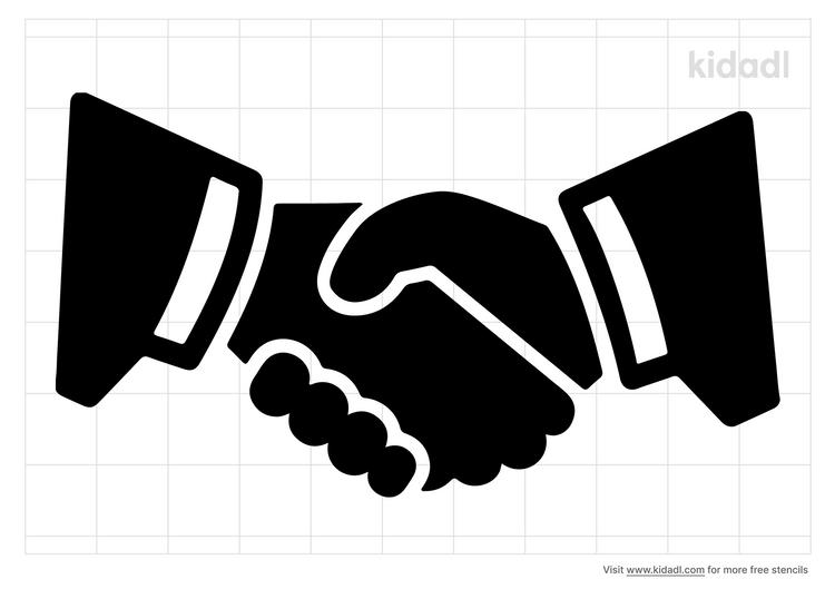 handshake-stencil