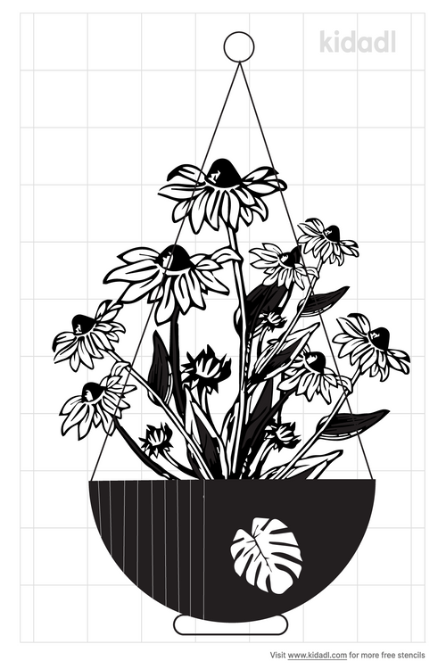 hanging-plant-stencil