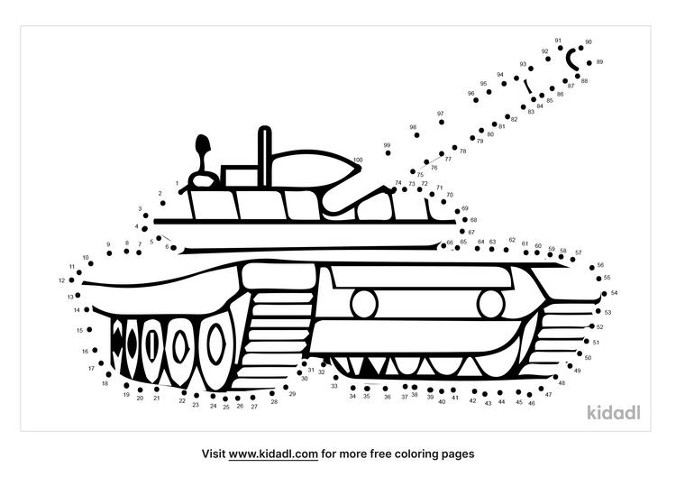 hard-army-tank-dot-to-dot