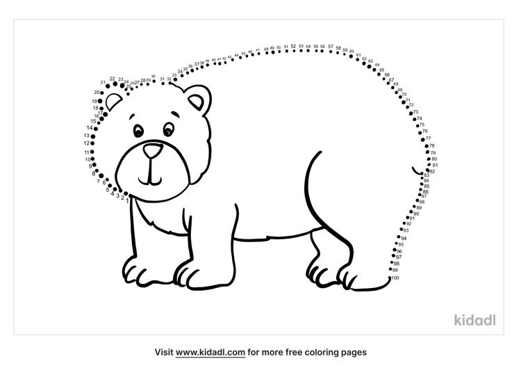 hard-brown-bear-dot-to-dot