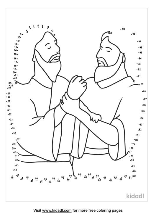 hard-jesus-baptism-dot-to-dot