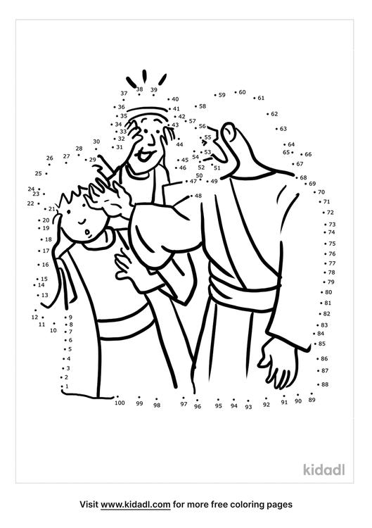 hard-jesus-heals-two-blind-men-dot-to-dot