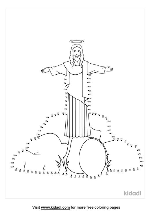 hard-jesus-is-risen-dot-to-dot