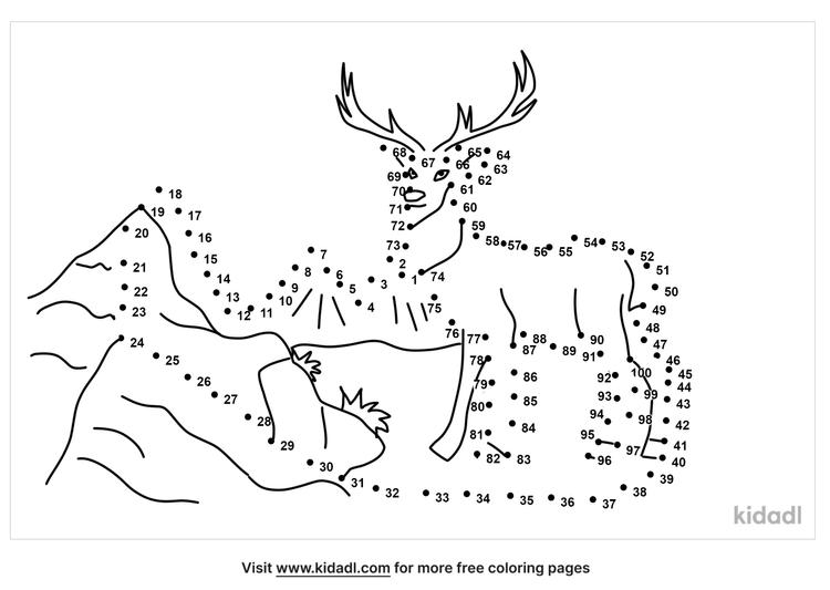 hard-mountain-deer-dot-to-dot